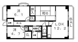 モンテ21[504号室号室]の間取り