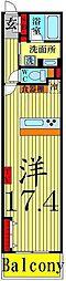 ロイヤルパークス西新井[828号室]の間取り