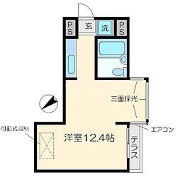スペースブロック上新庄[4階]の間取り