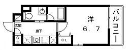 レオンコンフォート谷町六丁目[9階]の間取り