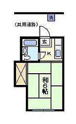 マンションオリオン[2階]の間取り