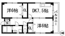 増建本社ビル[4階]の間取り