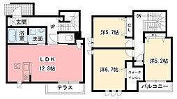 [テラスハウス] 兵庫県西宮市段上町6丁目 の賃貸【/】の間取り