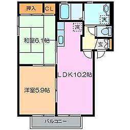 エスペランサ C棟[1階]の間取り