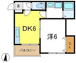 兵庫県加古川市野口町坂井の賃貸アパートの間取り