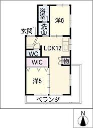 高重ビル[4階]の間取り