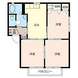 シャーメゾントゥ−リーフ[1階]の間取り