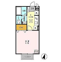 ハウス富士[106号室]の間取り