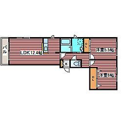 ハピネス福住[3階]の間取り