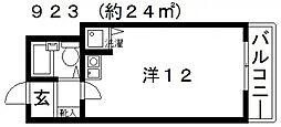 第2アモルフ[207号室号室]の間取り