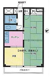 武蔵野プラザ西川口[201号室]の間取り