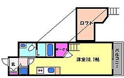 兵庫県芦屋市三条南町の賃貸アパートの間取り