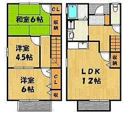 [タウンハウス] 兵庫県神戸市西区玉津町二ツ屋1丁目 の賃貸【/】の間取り