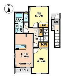 ボンヌール[2階]の間取り