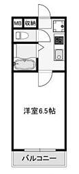 兵庫県西宮市甲風園3丁目の賃貸マンションの間取り