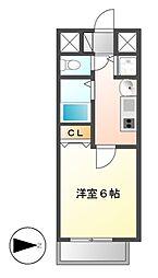 プレサンス名古屋STATIONビーフレックス[2階]の間取り