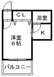 「アーバンハイツ」〜彦根駅近く好立地〜[202号室]の間取り