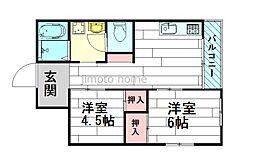 上新田アパートメント[1階]の間取り