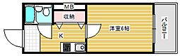 ライズ芦原橋[7階]の間取り