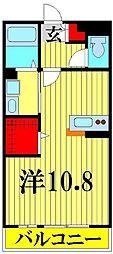 埼玉県越谷市新越谷2丁目の賃貸アパートの間取り