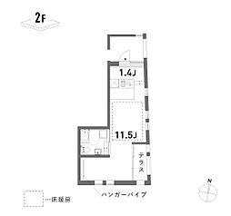 新築 荘[201号室号室]の間取り