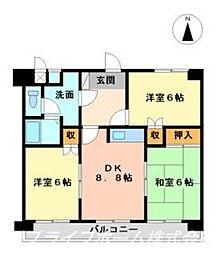 ガーデンヒルズ藍住 I[4階]の間取り