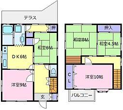 南海高野線 初芝駅 徒歩10分の賃貸一戸建て 1階5DKの間取り