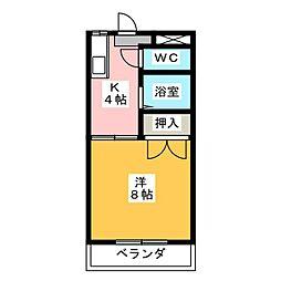 シャンブル高野[1階]の間取り
