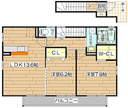 NEO天川A棟[2階]の間取り
