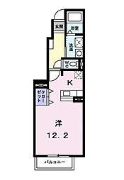 クレメント・エヌ AB棟[B102 号室号室]の間取り