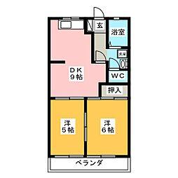 メゾンエポック[1階]の間取り