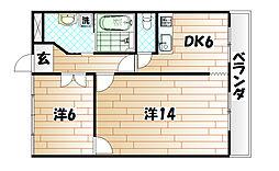 ナンシーコーポ多田[5階]の間取り
