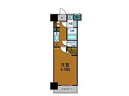 Osaka Metro千日前線 今里駅 徒歩1分の賃貸マンション 4階1Kの間取り