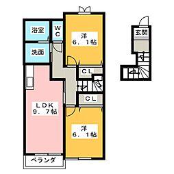 メゾンヌーベル[2階]の間取り