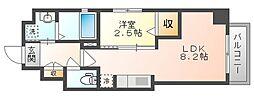岡山電気軌道清輝橋線 東中央町駅 徒歩4分の賃貸マンション 4階1LDKの間取り