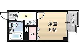 フィアス梅香[4階]の間取り