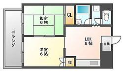 ライオンズマンション薬院[3階]の間取り