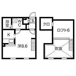 愛知県清須市須ケ口駅前1丁目の賃貸アパートの間取り