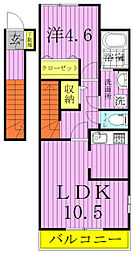 クレール松葉II[203号室]の間取り