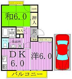 ティアラK-1[1階]の間取り