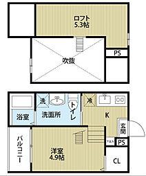 愛知県名古屋市南区西田町3丁目の賃貸アパートの間取り