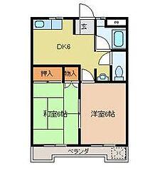 スカイハイツ上石田[2階]の間取り