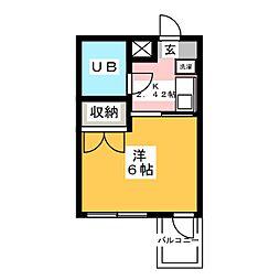 ウイングマンション[3階]の間取り