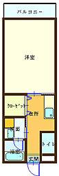 和歌山県海南市船尾の賃貸マンションの間取り