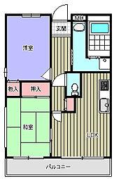 ラ・クーレkasuga[3階]の間取り