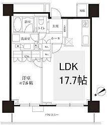 ザ・セントラルマークタワー[32階]の間取り