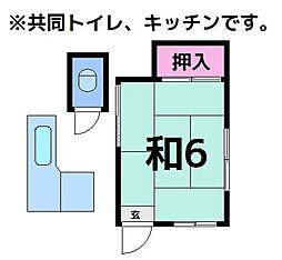 福田荘2[1号室]の間取り