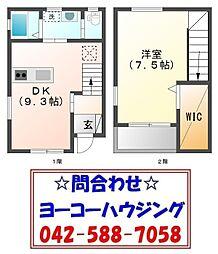[テラスハウス] 東京都青梅市長淵4丁目 の賃貸【/】の間取り
