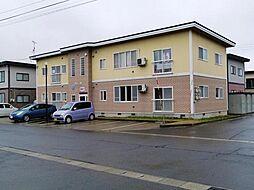 秋田県横手市三本柳字寺田の賃貸アパートの外観