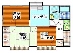 [一戸建] 茨城県ひたちなか市はしかべ1丁目 の賃貸【/】の間取り